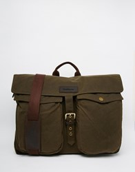 Barbour Waxed Messenger Bag Brown