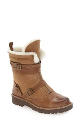 Arturo Chiang Women's 'Pelli' Genuine Rabbit Fur And Shearling Lined Boot Chocolate Leather