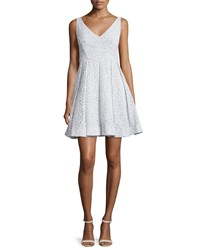 Erin Fetherston Coco Sleeveless V Neck Embroidered Cocktail Dress Women's