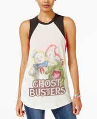 Mighty Fine Juniors' Ghostbusters Graphic Tank Cream