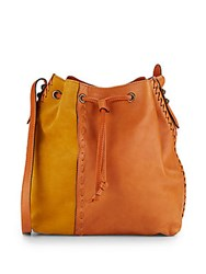 Dannijo Thalia Leather And Suede Bucket Bag Cuoio