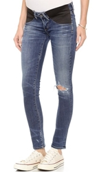 Citizens Of Humanity Racer Ultra Maternity Skinny Jeans Distressed Weekend