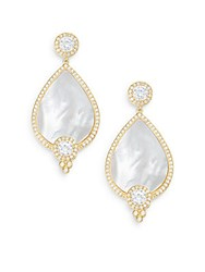 Freida Rothman Visionary Mother Of Pearl And 14K Yellow Gold Vermeil Teardrop Earrings