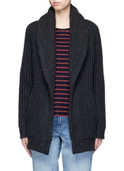 Vince 'Car Coat' Wool Cashmere Chunky Knit Cardigan Grey