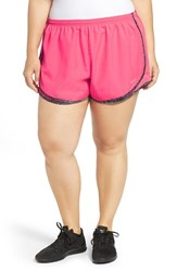 Nike Plus Size Women's 'Tempo' Track Shorts Hyper Pink Black Wolf Grey