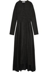 J.W.Anderson Smocked Stretch Jersey Maxi Dress Black