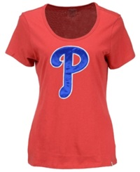 '47 Brand Women's Philadelphia Phillies Relaxed Knockout T Shirt Red
