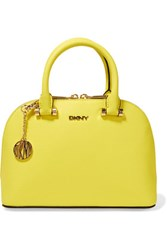 Dkny Mini Textured Leather Tote Bright Yellow