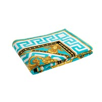 Versace Beach Towel Turquoise White Gold