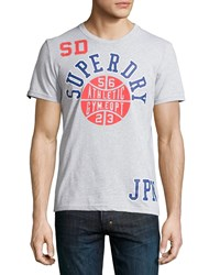 Superdry Slam Dunk Graphic Tee Concrete Gray Marl