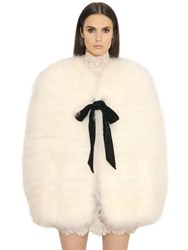 Philosophy Di Lorenzo Serafini Marabou Feather Cape
