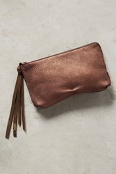 Anthropologie Stella Pouch Dusted Bronze