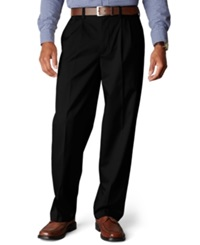 Dockers D4 Relaxed Fit Signature Khaki Pleated Pants Black