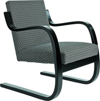 Artek Armchair 402 With Black Armrests