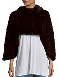 Saks Fifth Avenue Mink Fur Cape Brown
