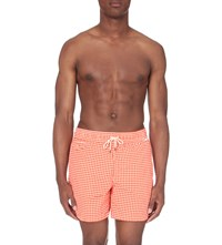 Ralph Lauren Traveller Checked Swim Shorts Fiesta Orange G