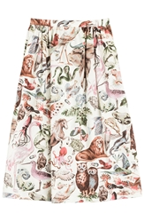 Valentino Safari Printed Midi Skirt