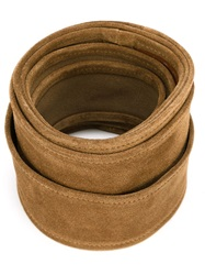 Iro Suede Knot Belt Nude And Neutrals