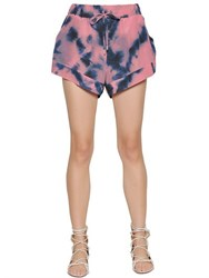 Iro Printed Silk Crepe De Chine Shorts
