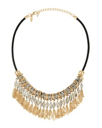 Greenbeads By Emily And Ashley Duo Tone Fringe Necklace Gold