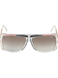 Cazal Square Frame Sunglasses White