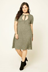 Forever 21 Plus Size Marled T Shirt Dress