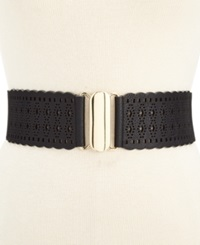 Style And Co. Wide Perforated Stretch Belt