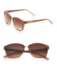 Vince Camuto 63Mm Round Sunglasses Brown