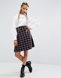 Sister Jane Campus Skirt In Check Navy