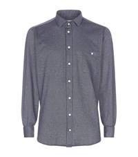 Richard James Birdseye Cotton Shirt Male Navy