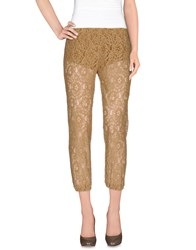 Denny Rose Trousers 3 4 Length Trousers Women Beige