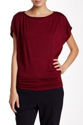 Max Studio Cinch Waist Tee Red