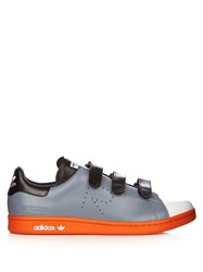 Raf Simons X Adidas Stan Smith Low Top Leather Trainers Grey Multi