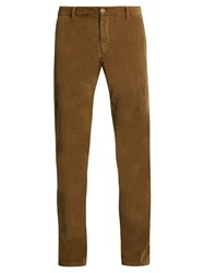 J.W.Brine Owen Slim Leg Stretch Cotton Corduroy Trousers Brown