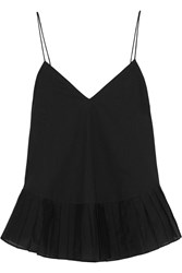 J.Crew Melinda Cotton Voile And Organza Camisole Black