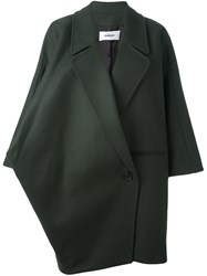 Chalayan Wide Collar Coat Green