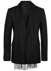 Givenchy Black Scarf Effect Wool Jacket