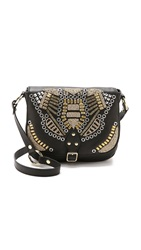 Ash Zuma Embroidered Cross Body Bag Black