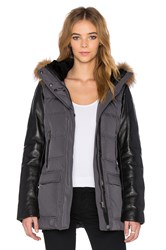 Mackage Orla Asiatic Raccoon Fur Jacket Charcoal