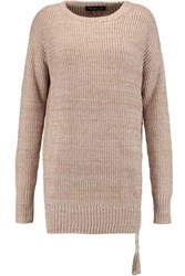 Rachel Zoe Sonia Ribbed Knit Silk And Cotton Blend Sweater Tan