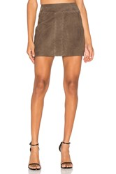 Ramy Brook Juliana Suede Skirt Brown