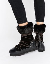 Sixty Seven Sixtyseven Lace Up Snow Boots Black