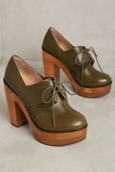 Anthropologie Cubanas Colorblock Platforms Khaki