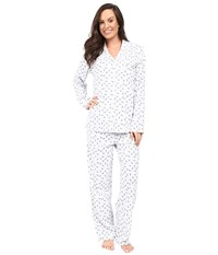 Eileen West Notch Collar Pajama Dot Rose Women's Pajama Sets White