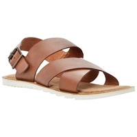 Bertie Funn Textured Leather Crossover Sandals