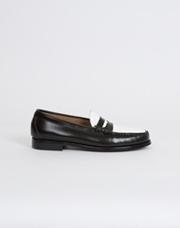 G.H. Bass G.H Bass Weejuns Two Tone Penny Loafer Black White