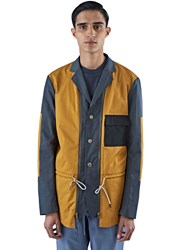 Marni Technical Poplin Patchwork Jacket Blue
