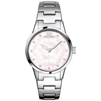 88 Rue Du Rhone 87Wa153203 Women's Rive Pink Sapphire And Diamond Filigree Dial Bracelet Strap Watch Silver Mother Of Pearl