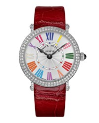Ladies Color Dreams Ronde Diamond Watch With Alligator Strap Franck Muller Silver