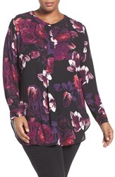 Sejour Plus Size Women's Henley Tunic